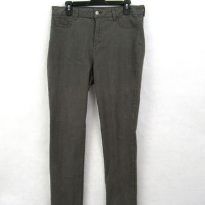 NYDJ Womens Size 14 Gray Denim Skinny Jeans D5-19